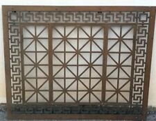 "Atq Rare Greek Revival Window Guard Grille Grate Architecture Salvage 42""x34"""