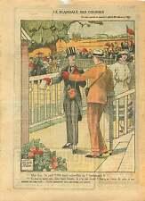 Racetrack PMU Champ de Courses Hippodrome de Longchamp Paris 1921 ILLUSTRATION