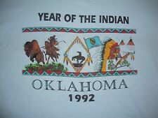 vintage OKLAHOMA Year Of The Indian 1992 Native American Tourist T Shirt Xl
