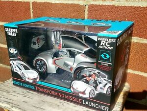 SHARPER IMAGE Remote Control Transforming Missile Launcher Missle New Sealed!!!