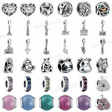 925 European Sterling Fashion Silver Charms Bead for Bracelet Chain Necklace AA3
