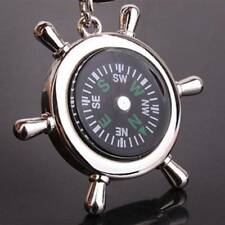 Portable Key Ring Compass Rudder Fashion Key Chain Outdoor Men Tools Metal