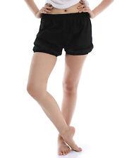 RTBU Iyengar Yoga Dance Ballet Pilates Cotton Bloomer Easy Comfort Shorts Black