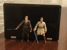 Anakin Skywalker (Black Series) and Obi-Wan Kenobi (ROTS 30th)/with Lightsabers
