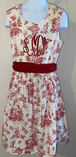 Kelly's Kids Dress Size 7/8 Monogrammed Sms