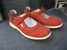 Ladies RED Mephisto shoes 9 velcro maryjane air cushion REJINE sneaker slip on