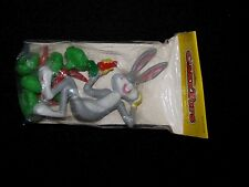 1979 Wilton Cake Tops Topper Decoration Bugs Bunny with 6 Carrot Candle Holders