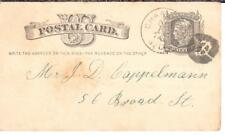 Charleston SC - FANCY CANCEL ( UNLISTED in COLE ? ) on 1881 GERMAN FIRE HOUSE pc