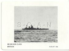 WWII Double Sided Recognition Photo Card- Navy Battleship BB Nelosn- August 1944