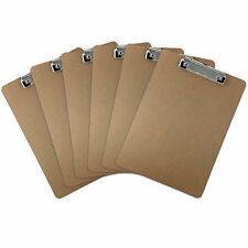 6pk Brown Standard Clipboards DIY Decor Document Picture Holder Supplies LOT