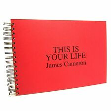 This Is Your Life Memory Book, A5/A4, Scrapbook, Photo Album, Personalised Gift