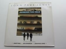 JOHN PAUL JONES  1985  MUSIC FROM THE FILM    SCREAM FOR HELP   GERMAN  VINYL LP