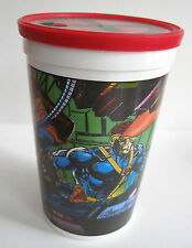 1993 Marvel Comics PIZZA HUT Promo Cup w/X-MEN Logo Lid Jean Grey Cyclops Bishop