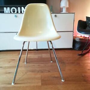 (2) original EAMES Side Chair DSX Fiberglas H-Base HERMAN MILLER Vitra 60er 70er