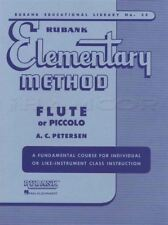 Rubank Elementary Method for Flute or Piccolo Sheet Music Book Learn How To Play