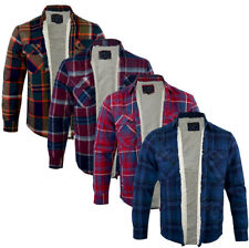 Herren Tokyo Laundry Sherpa Gefüttert Flanell Holzfällerhemd Karo Shirt Knopfleiste S-XL