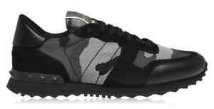 Valentino Mesh Camouflage Rockrunner Sneakers Size UK 7 (EUR 41) Camo Trainers