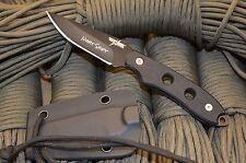 THUNDER BASIN '' NIGHT SHIFT ''AUS-8 STEEL BLACK BOOT KNIFE USA-T104 W / KYDEX