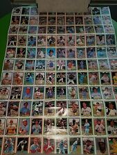 UNCUT SHEET ROSE CAREW PARKER JENKINS 1981 DONRUSS CARDS LOW GRADE CREASED TPHLC
