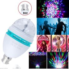 3W BC LED PARTY DISCO MULTI COLOURED ROTATING BULB PARTY LAMP