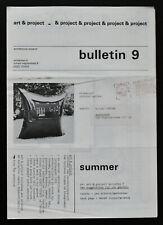 Art & Project # Jan Dibbets & Bernd Lohaus, Bulletin 9 # 1969, nm+