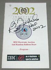 HOF 2002 NHL Bernie Federko St-Louis Blues Induction Celebration Signed Program
