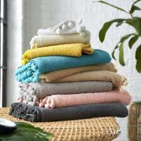 100% Cotton Bath Towel Pom Pom Towel  Extra Absorbent soft Hand Towel Bath Sheet