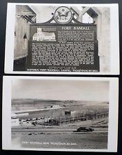 2 RPPCs 1940s+ Pickstown, South Dakota Ft. Randall Dam Power Station  Chapel
