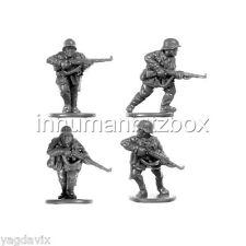 GEI8 RIFLEMAN x4 + BASE M GERMAN EARLY FLAMES OF WAR BITZ PSC 15mm