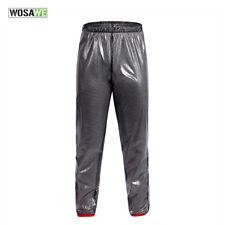 Cycling Rainproof Trousers Water Resistant Bike Wear Lightweight Non-slip Pants Black M