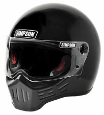 Simpson M30 BANDIT Casque point compatible Noir Brillant L 60cm 7 1/2