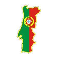 Sticker plastifié CARTE PORTUGAL Couleur - 20cm x 10cm