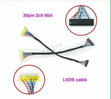 1PCS FIX 30Pin LVDS Cable for HDMI LCD Controller Panel 2ch 6 Bit Interface Wire