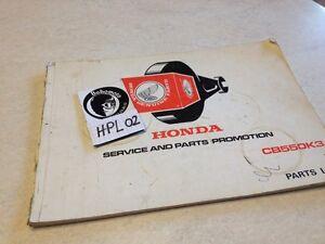 Honda CB550K3 CB550 K3 CB 550 550CB Piezas List Lista Pieza Repuesto Éd. 76