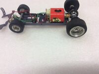 1/24 scale vintage slot car chassis Classic Cox Monogram
