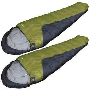 SPECIAL > 2 ZIP TOGETHER 0 DEGREE  MUMMY BAGS (SET NEW)  By HIGH PEAK FREE SHIP