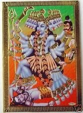 BILD DURGA Hinduismus Prägedruck INDIEN Altarbild Vorlage Tattoo (44a