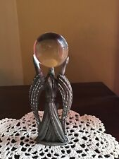 "Spoontique Pewter Wizard with Large crystal Bal Hmr 1516 5.25"" Tall"