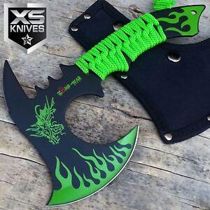 "11"" Full Tang GREEN DRAGON Axe Outdoor Hunting Camping SURVIVAL Steel + SHEATH"