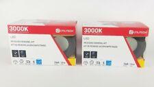 "(Lot of 2) Utilitech LED 3"" Recessed Flush Mount Remodel Kit Oil Rubbed Bronze"