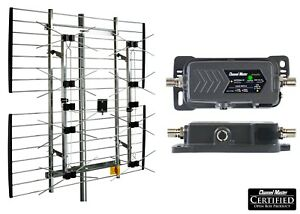Channel Master EXTREMEtenna Multidirectional TV Antenna Amplify Amplifier Preamp