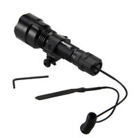 Tactical Red 5000lm XML Q5 RED LED Flashlight Torch Shotgun/Rifle Mount Hunting