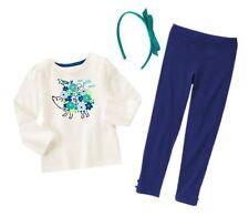 NWT Gymboree HAPPY BLUEBIRD Outfit,Hedgehog Top,Leggings,Headband,Size 4