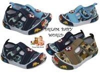 Boys BABY Toddler canvas shoes sandals trainers size 3 - 7 UK NEW FIRST SHOES