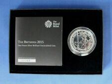 2015 Uncirculated 1oz Silver Britannia coin in Presentation Box / COA   (AH3/17)