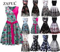 13 STYLES Retro Women Floral Evening Party 50S 60S Rockabilly Swing Prom Dress