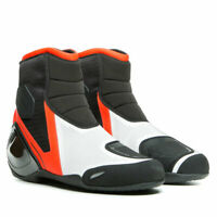 D - Dainese Dinamica Air Motorcycle Motorbike Boots Black / Fluo Red / White