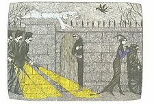 """EDWARD GOREY """"ILLUSTRATION FOR MYSTERY"""" LARGE 10""""x 15"""" Wall Art Poster Book Page"""