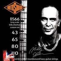 ROTOSOUND BS66 BILLY SHEEHAN SIGNATURE BASS STRINGS, CUSTOM GAUGE 4's - 43-110