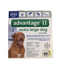 Bayer Advantage ll Extra lg Dog over 55lbs epa approved, 4pk ~ Kills Fleas